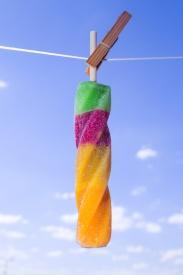 Obraz Ledové osvěžení na prádelní šňůře