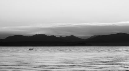 Obraz Na jezeře Garda pod Alpami