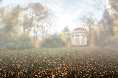 Obraz Podzim v zámeckém parku