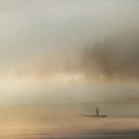 Obraz Při svítání na jezeře