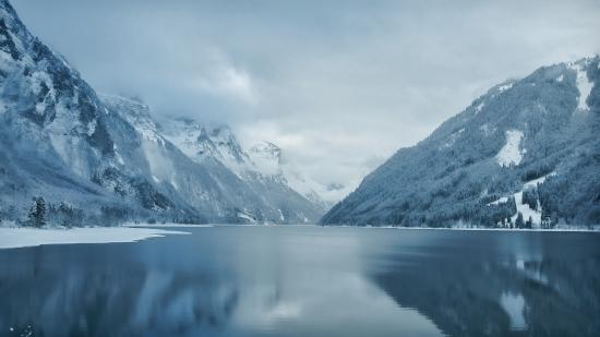 Obraz Zima u jezera