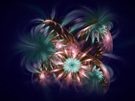 Obraz Půlnoční ohňostroj