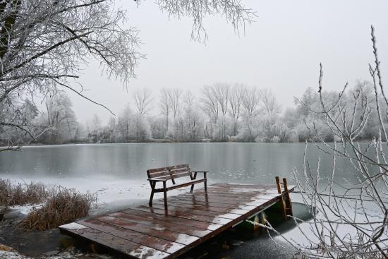 Obraz Zimní posezení