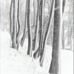 Obraz Zima kreslí